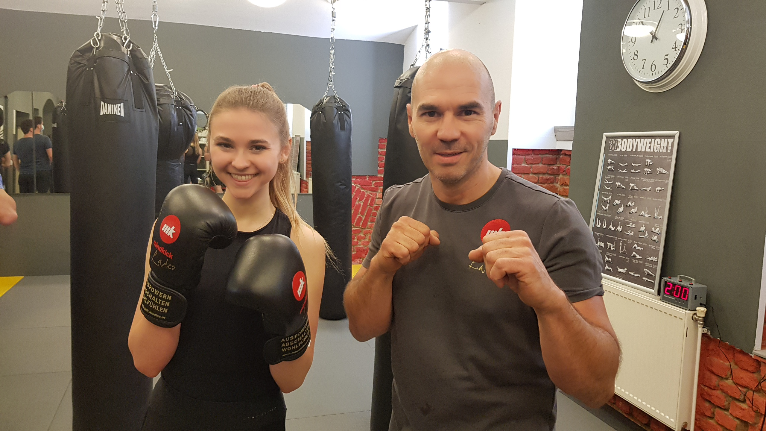 Kickboxen Psychologie Wien & Österreich Frauen Kickboxen in Wien mit Leonie